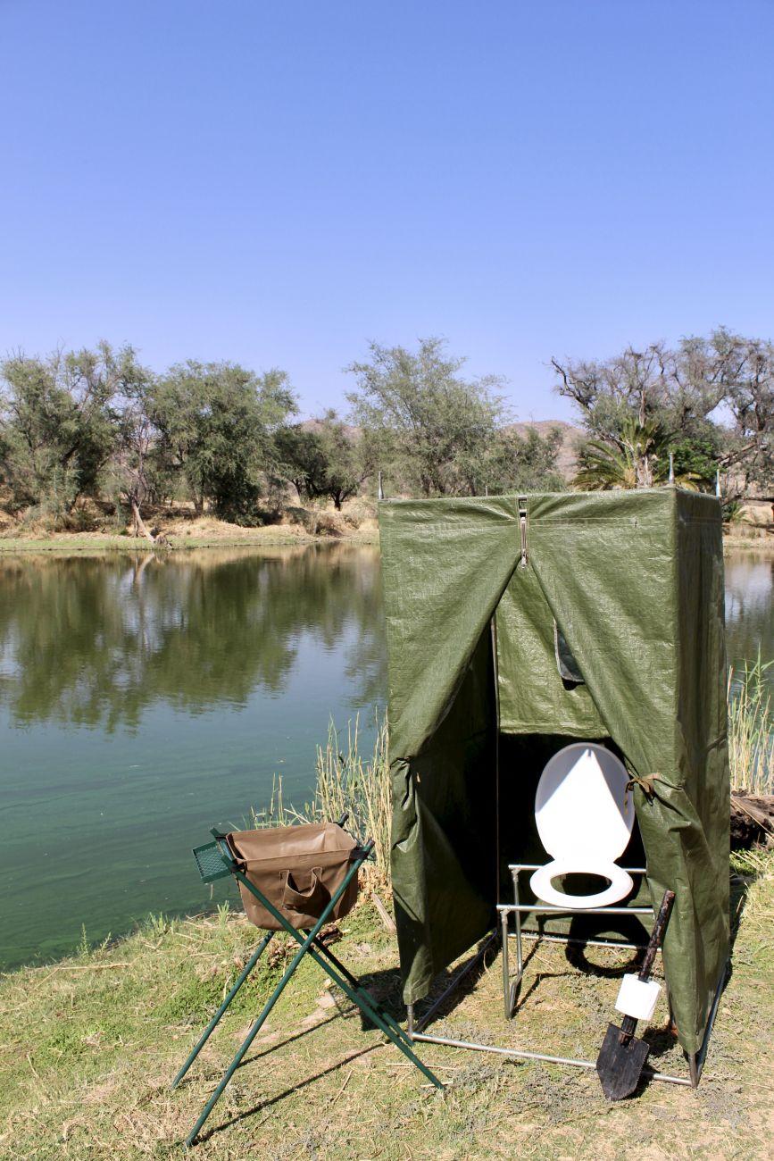 Dusch-/Toilettenzelt mit Toilettensitz